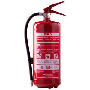 Bild på pulverbrandsläckare